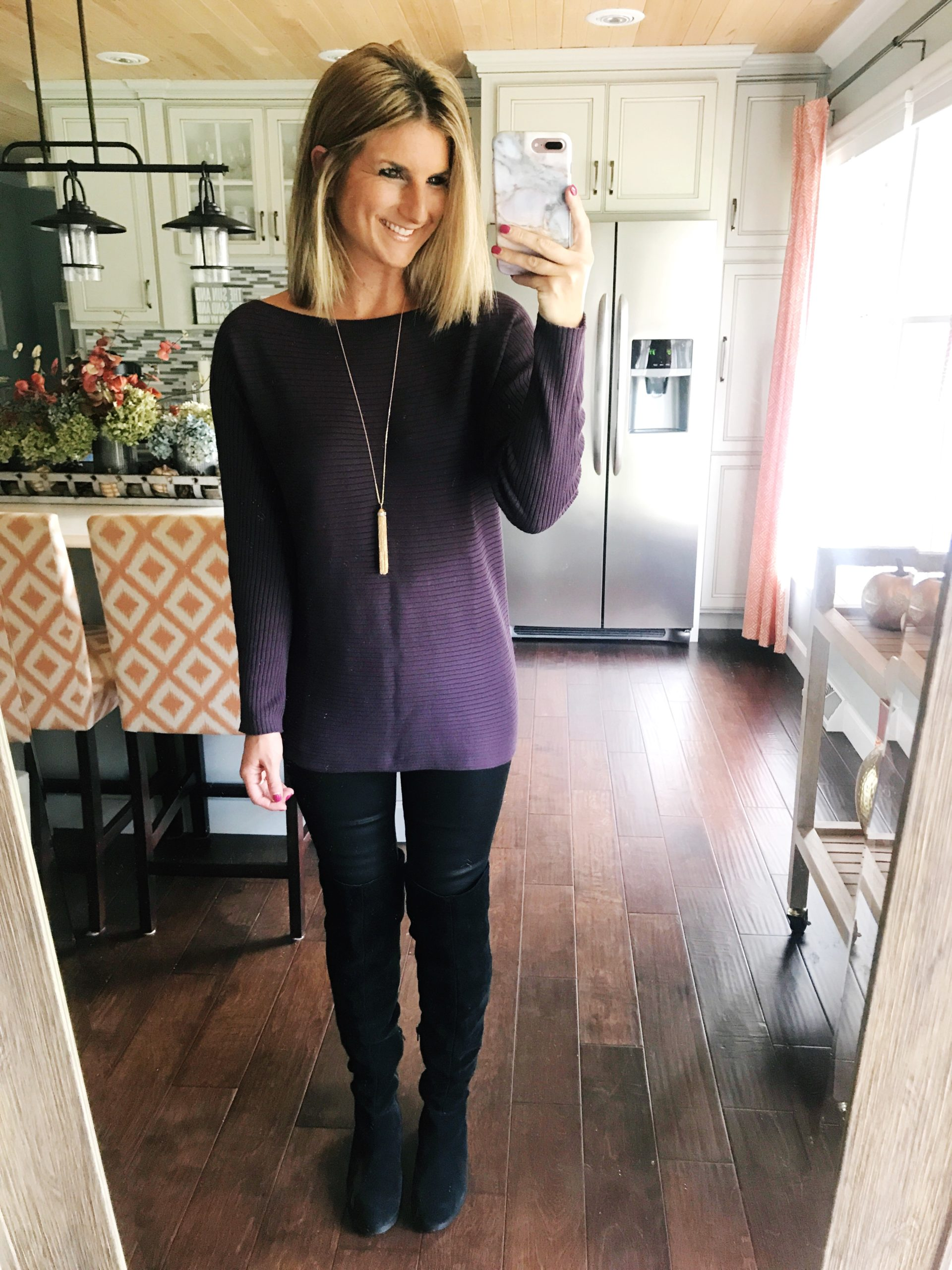 How to Wear Tall Black Boots with Skinny Jeans