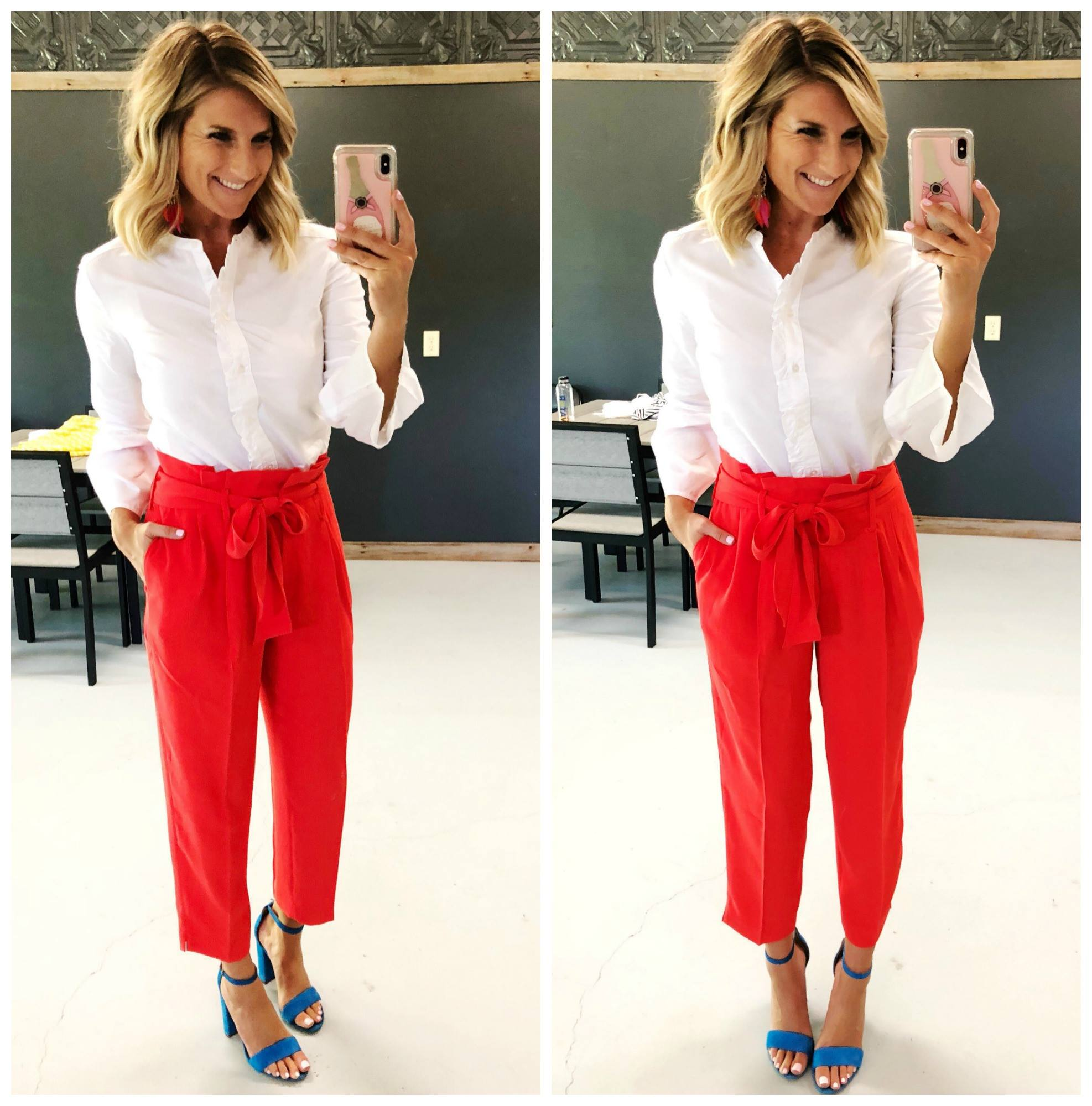 Affordable Work Outfit // How to wear paperbag pants // what to wear for work