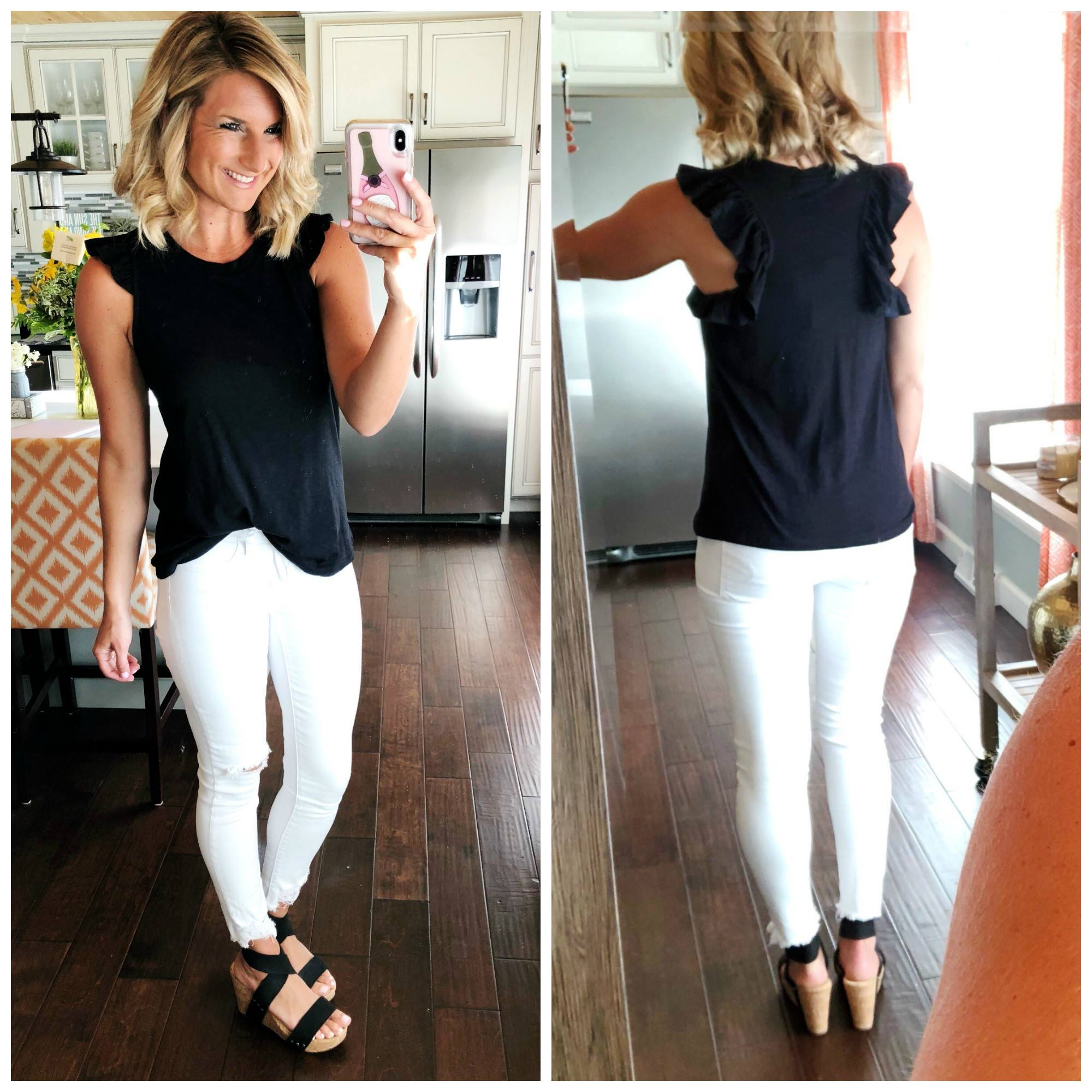 Date Night Outfit Idea // Perfect Non Sheer White Denim // Sumer Fashion
