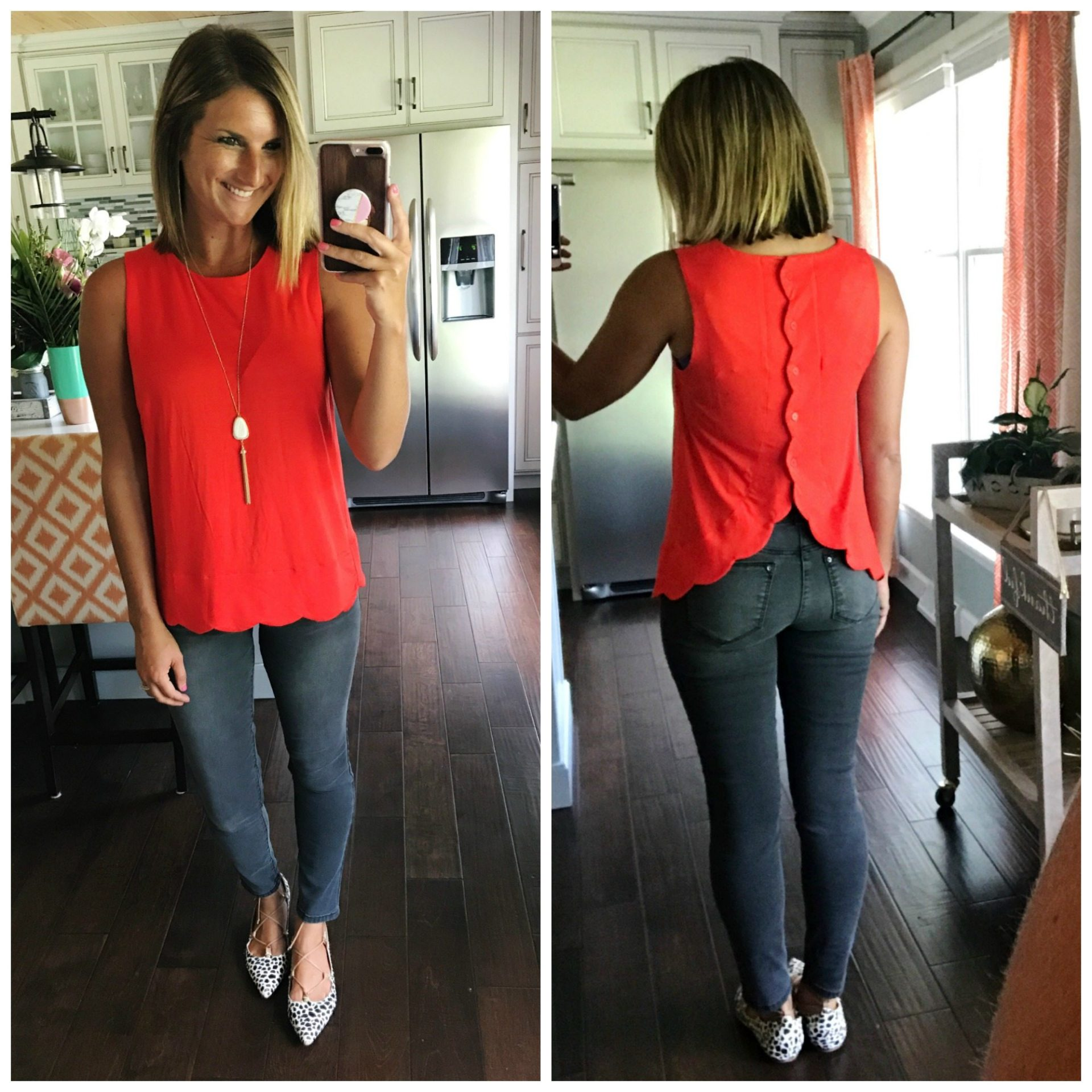 fdc9b1b5 [ordered in red fiery in XS, TRUE TO SIZE] The back is even cuter! It's  hard to find great tanks for summer and with this one, I think I may just  have.
