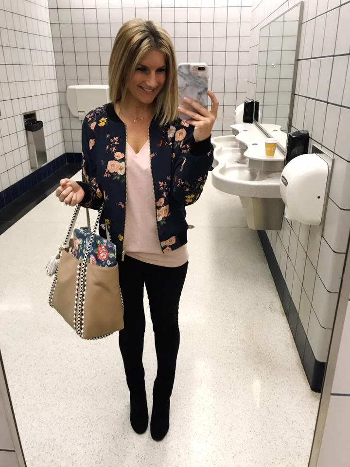 How to Wear a Floral Bomber Jacket