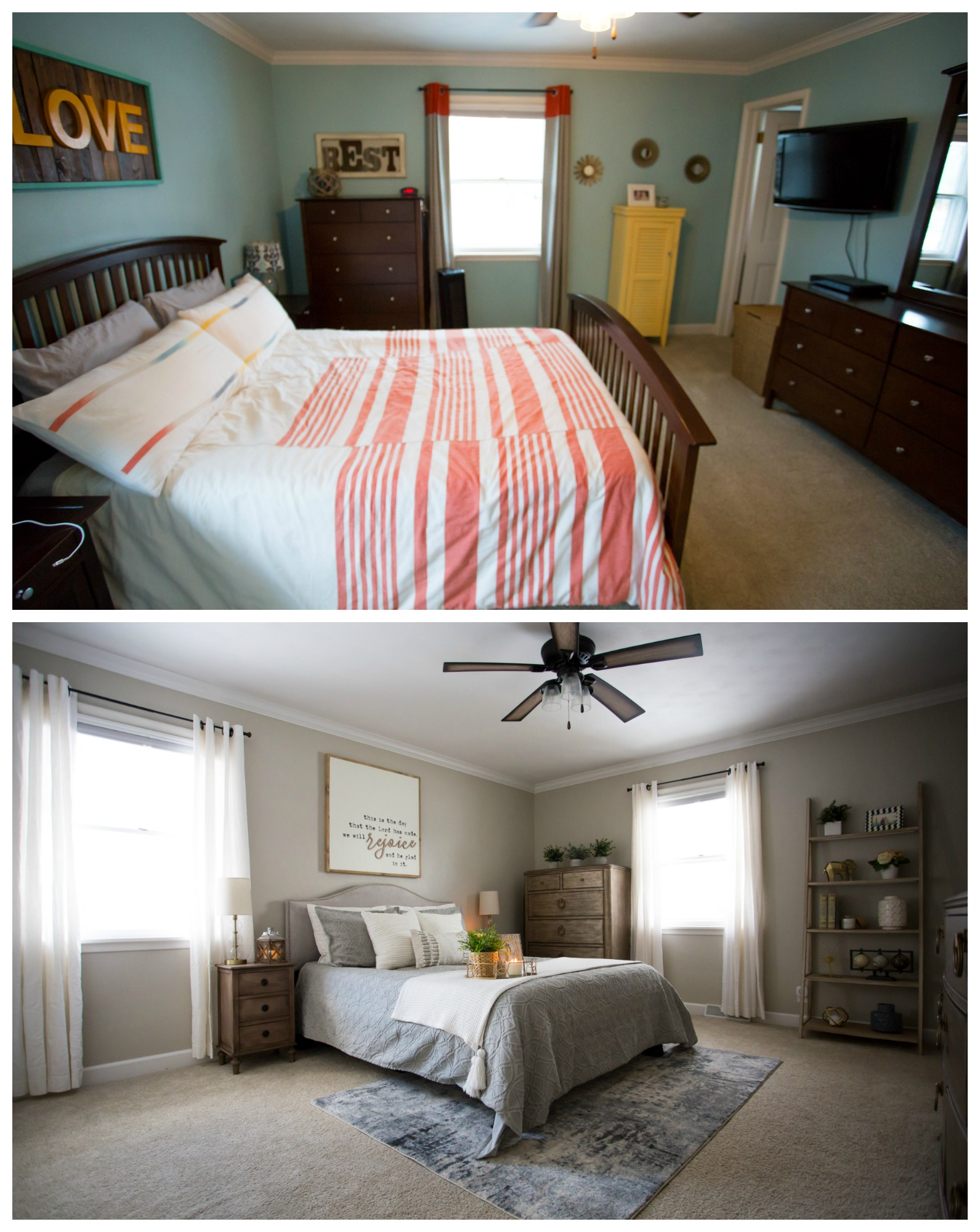 before and after bedroom makeover pictures master bedroom makeover before amp after living in yellow 20299