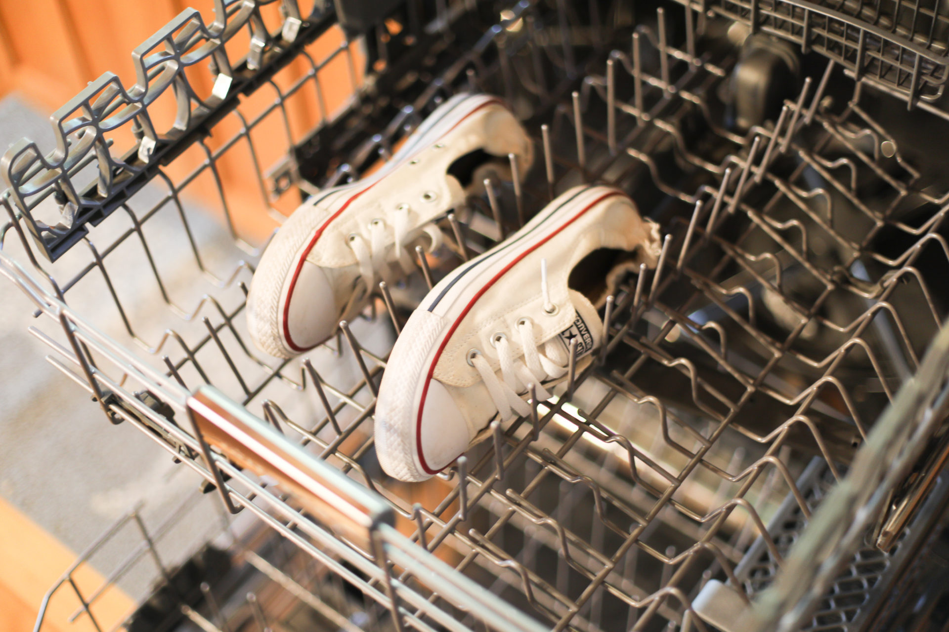 converse in dishwasher