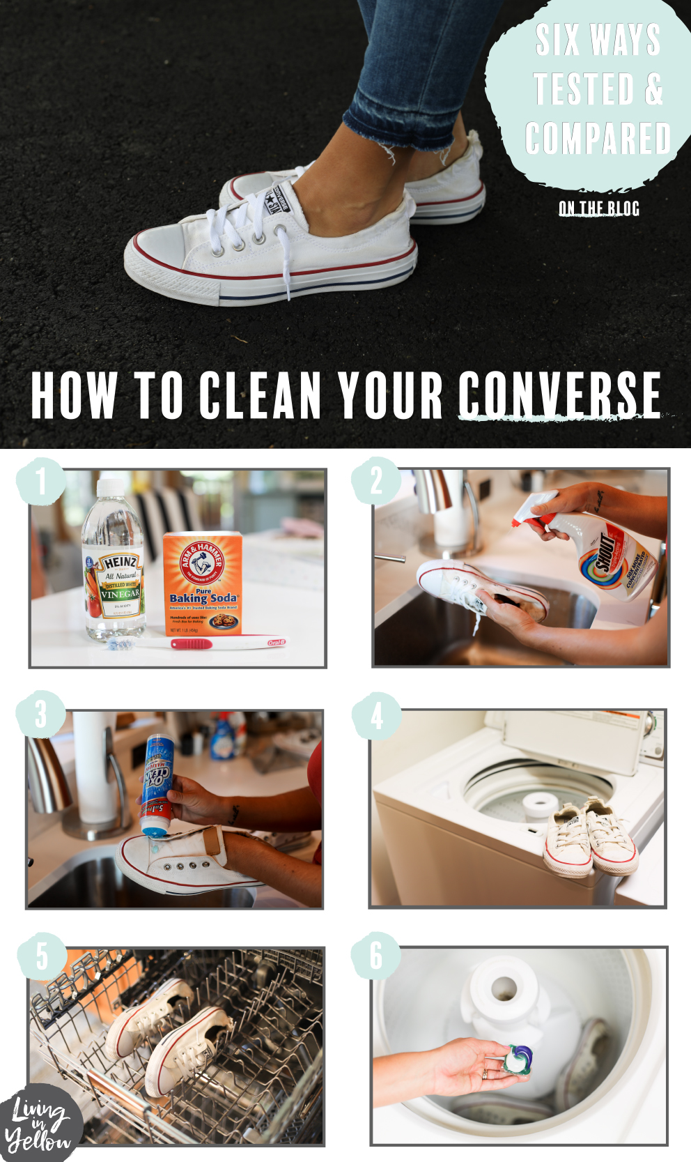 f58733841566 How to Clean Your Converse  6 Methods Put To The Test!  - Living in ...