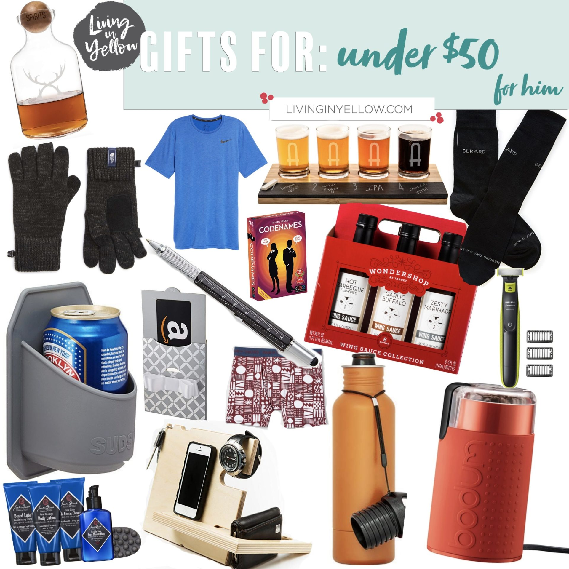 gift guide, gifts for him
